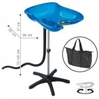 Washing Head Portable Compact Blue Bac