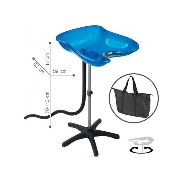 Washing Head Portable Compact Blue Bac