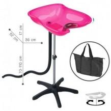 bac lave t te portable compact rose. Black Bedroom Furniture Sets. Home Design Ideas