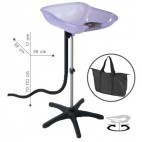 Washing Head Portable Compact Violet tray