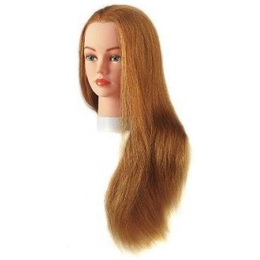 Tête à coiffer Julie 100% cheveux naturels