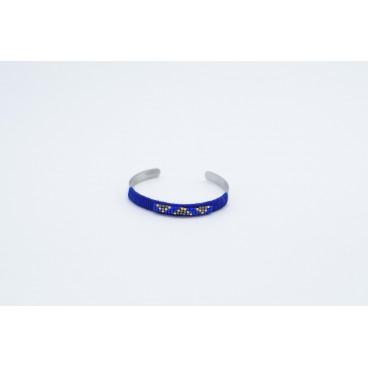Bracelet Métal et Perles Bleu Stella Green
