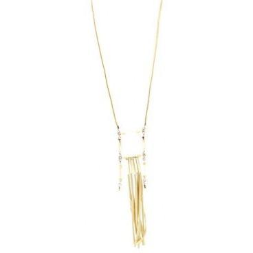 Lange Halskette BEIGE