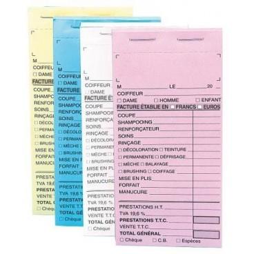 Paquet 10 carnets caisse Bleus sans Numéro