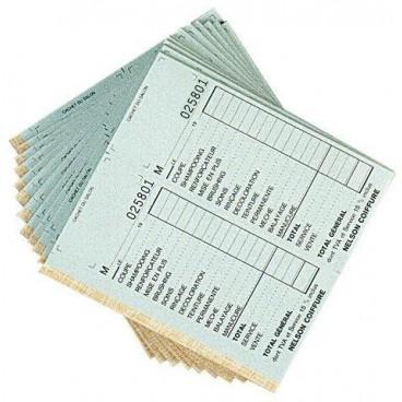 Paquet de 10 carnets caisse doubles avec N°