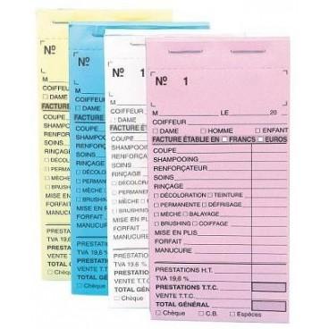 Paquet de 10 carnets Caisse Rose  avec numéros