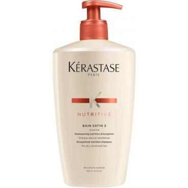 Bain Satin 2 cheveux secs à sensibilisés Nutritive Kérastase 500ML