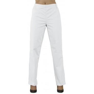 Pantalon esthétique blanc taille L