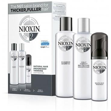 kit soin nioxin n°2 cheveux Visiblements fins et naturels