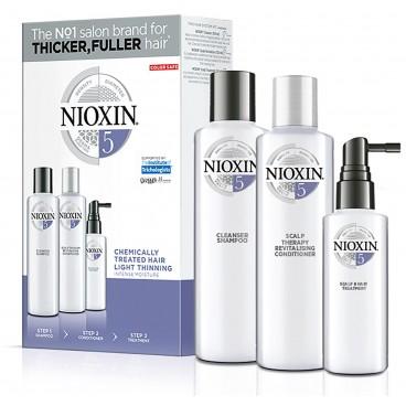 kit soin nioxin n°5 cheveux Normaux clairsemés, naturel ou sensibilsés