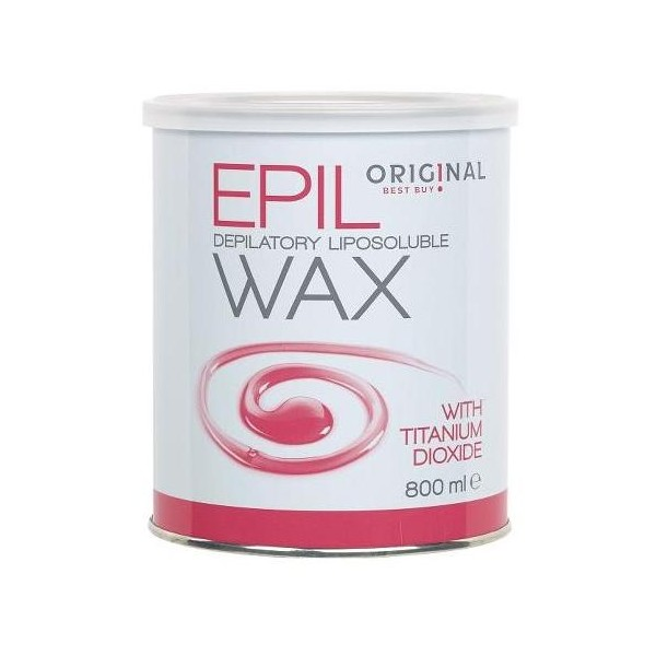 Pot Epil Rose Wax Wax Titanium Dioxide 800 Grs
