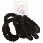 Bag of 6 black elastic 733