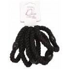Bag of 6 black elastic 734