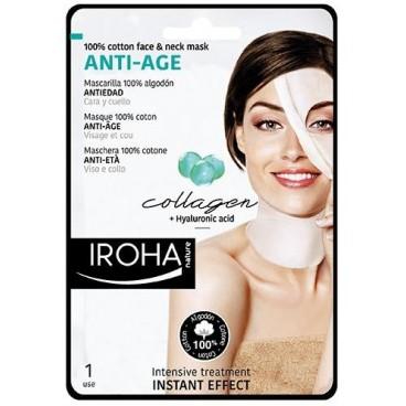Masque visage coton anti-âge IROHA