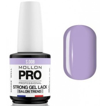 Vernis Permanent Soak Off Strong Gel Lack Mollon Pro Lavende - 08
