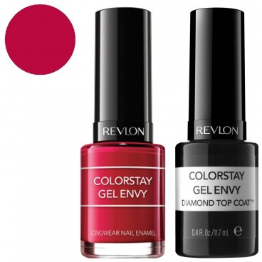 Pack Revlon Vernis à Ongles ColorStay Gel Envy Roulette Rush