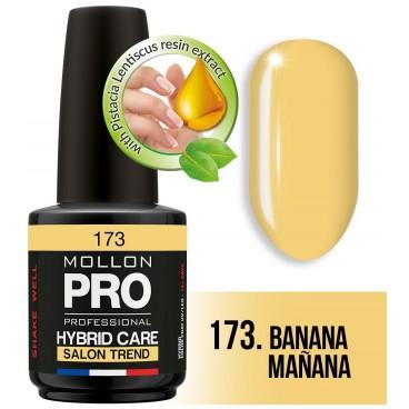 Vernis Semi-permanent Hybrid Care Mollon Pro 15ml 173 Banana