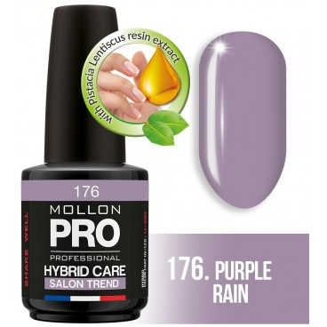 Semi-permanente Politur Hybrid Mollon Pro Care 15ml (für Farbe) 176 Purple Rain