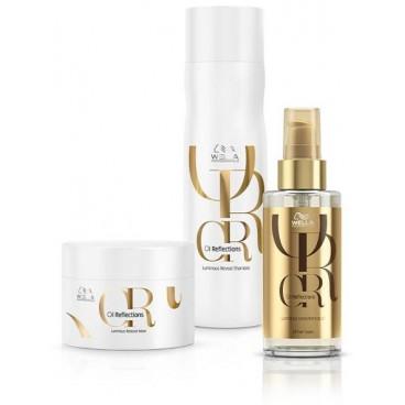 Shampoo + Mask Pack + Aceite suavizante para la reflexión del aceite para el cuidado