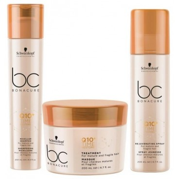 Pack Shampooing + Masque + Baume BC Q 10 Time Restore