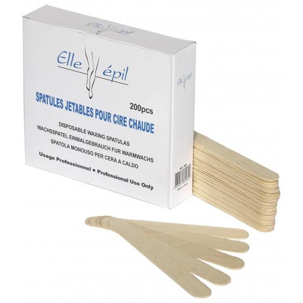 Box 200 Spatulas hot wax Ellepi