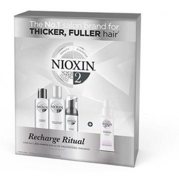 Kit Recharge Ritual avec hair Booster Nioxin n°2 pour cheveux naturels et très clairsemés