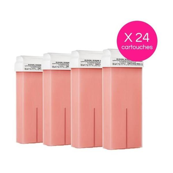 Pack 24 Cartouches Cire Jetable Titane Rose Xanitalia