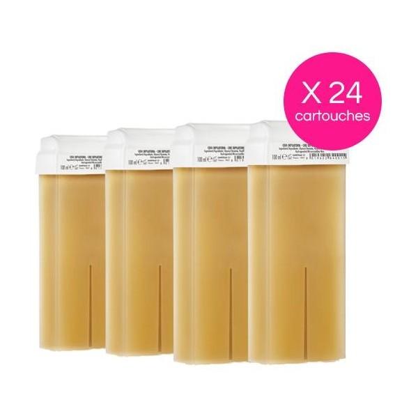 Pack de 24 cartuchos desechables Cera Miel Xanitalia