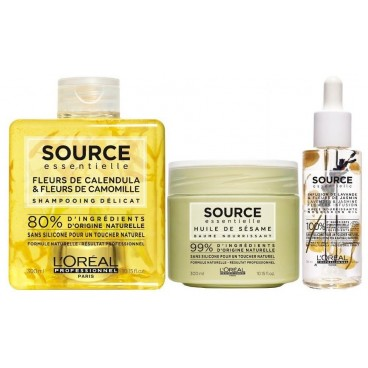 Source Essentiel Shampooing, Baume et Huile