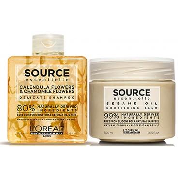 Source Essentielle Shampooing Calendula et Camomille et Baume au Sésame