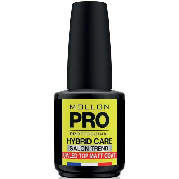 Matt Top Coat Semi-Permanent Nail Care Mollon Pro Hybrid 15ml