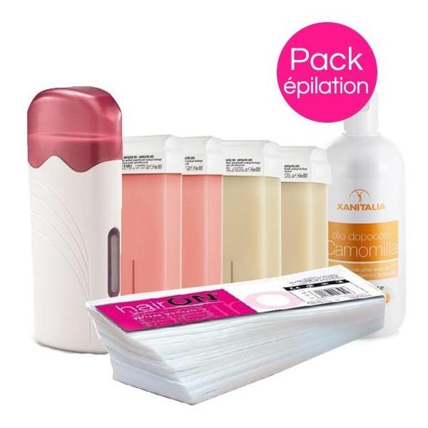 Cera Confezione Roll'on XANITALIA pelli delicate di colore rosa / Perlato Roll'on