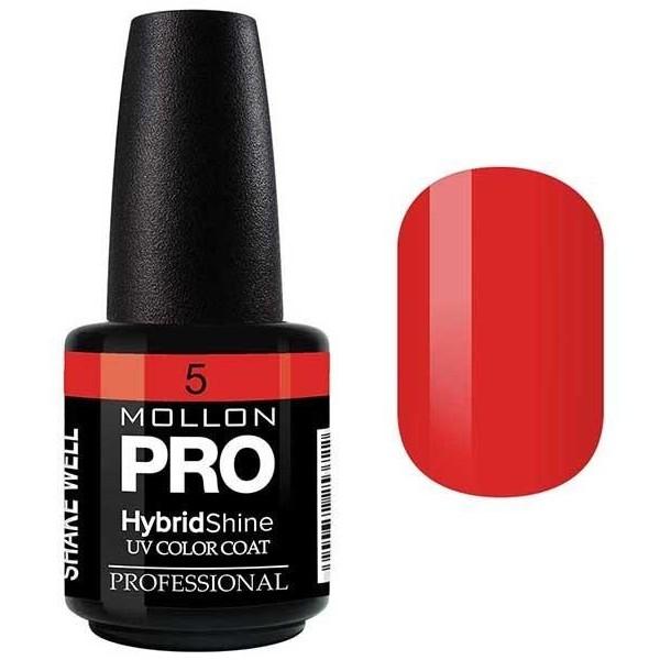 Vernis Semi-Permanent Hybrid Shine Mollon Pro 15ml Ruby - 05