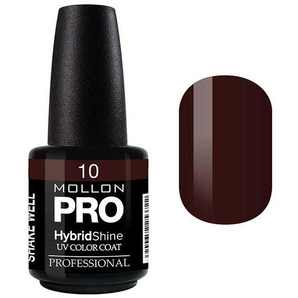 Vernis Semi-Permanent Hybrid Shine Mollon Pro 15ml Chocolate - 10