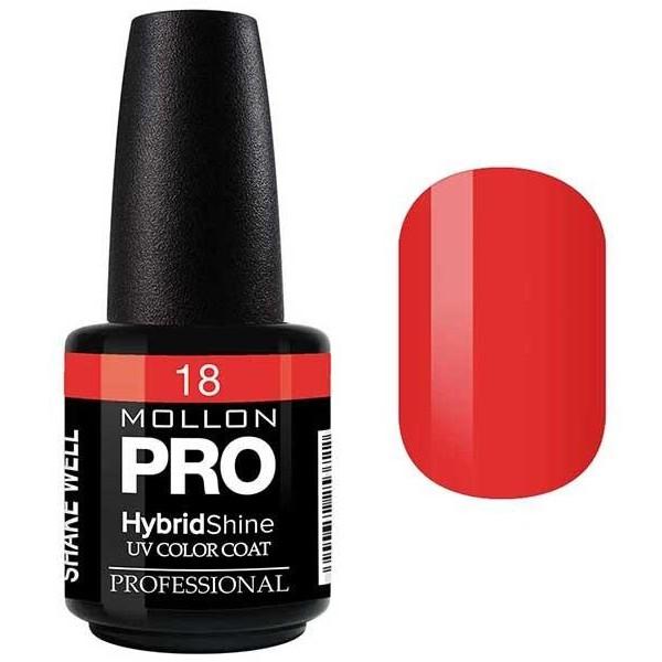 Vernis Semi-Permanent Hybrid Shine Mollon Pro Fiery - 18