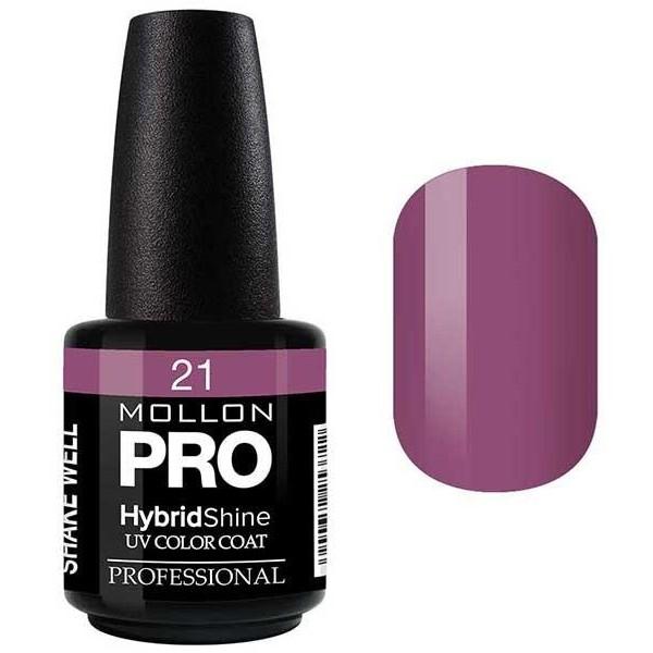 Smalto semi-permanente Hybrid Shine Mollon Pro Violet - 21