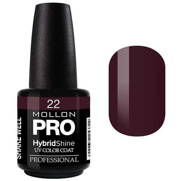 Smalto semi-permanente Hybrid Shine Mollon Pro Claret - 22