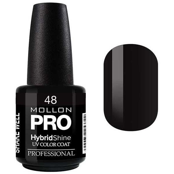 Smalto semi-permanente Hybrid Shine Mollon Pro Black / Noir - 48