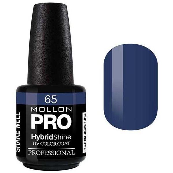 Vernis Semi-Permanent Hybrid Shine Mollon Pro Bleu Vert - 65