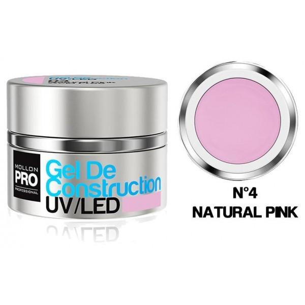 Construcción gel UV / LED Mollon Pro 15ml Natural Rosa - 04