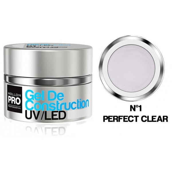 Gel de Construction UV/Led Mollon Pro 30 ml Perfect Clear - 01