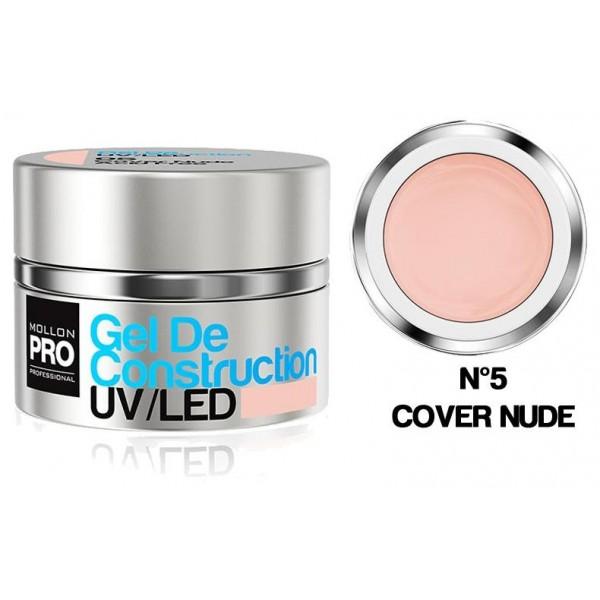 Edilizia gel UV / LED Mollon Pro 30 ml di copertura Nude - 05