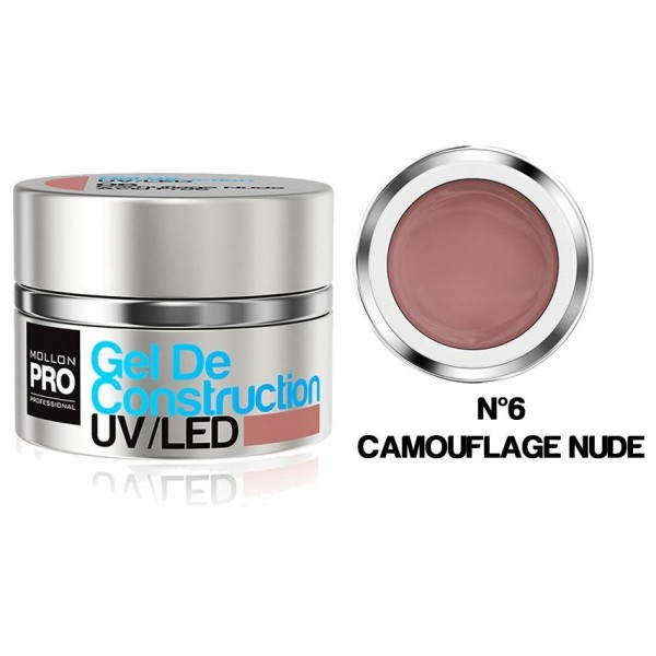 Gel de Construction UV/Led Mollon Pro 30 ml Camouflage Nude - 06