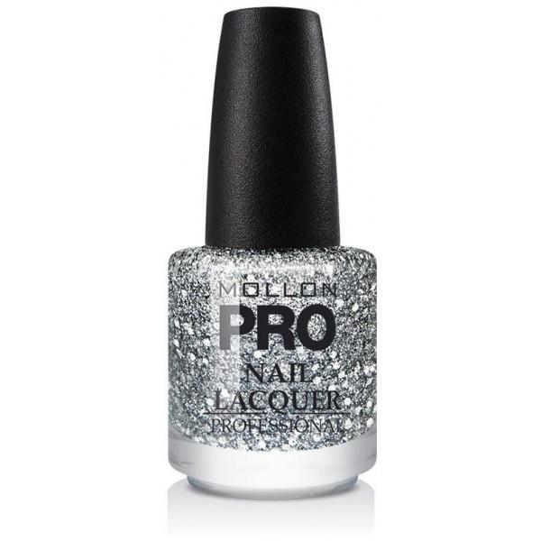 Top Coat Glitter Effect Mollon Pro Silver Drops - 201