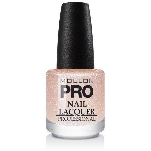 Top Coat Glitter Effect Mollon Pro Peach Sparkle - 206