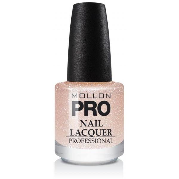 Top Coat Glitter Effect Mollon Pro Peach Sparkle - 206