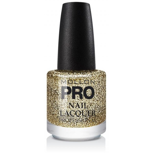 Top Coat Glitter Effect Mollon Pro Shimmer Gold - 906