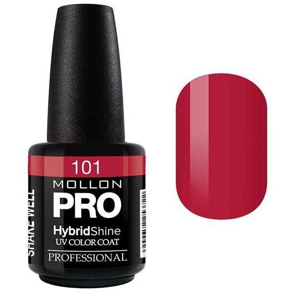 Semi-Permanent Varnish Hybrid Shine Mollon Pro 15ml Justine - 101