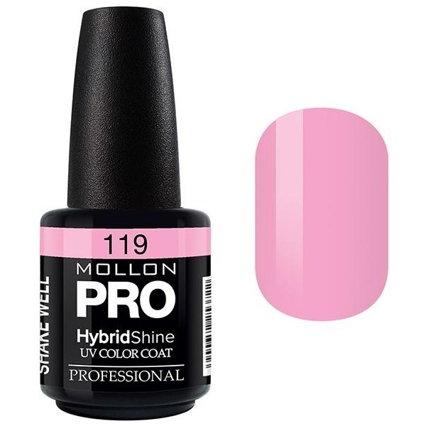 Vernis Semi-Permanent Hybrid Shine Mollon Pro 15ml Sweet Pink - 119
