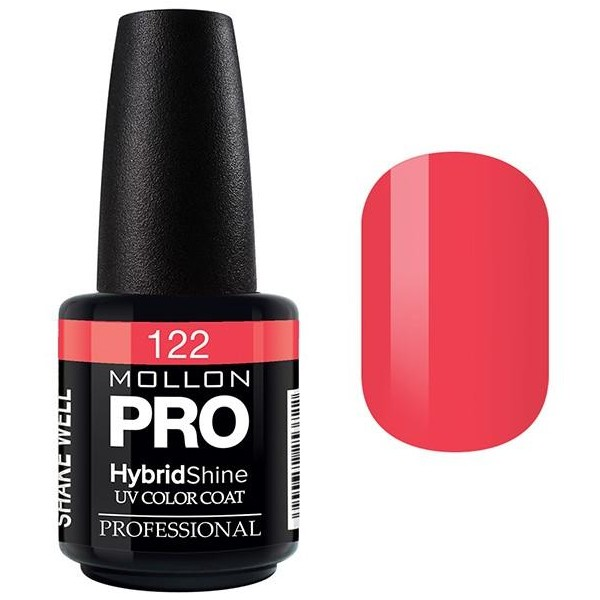Semi-Permanent Varnish Hybrid Shine Mollon Pro 15ml Fire Red - 122